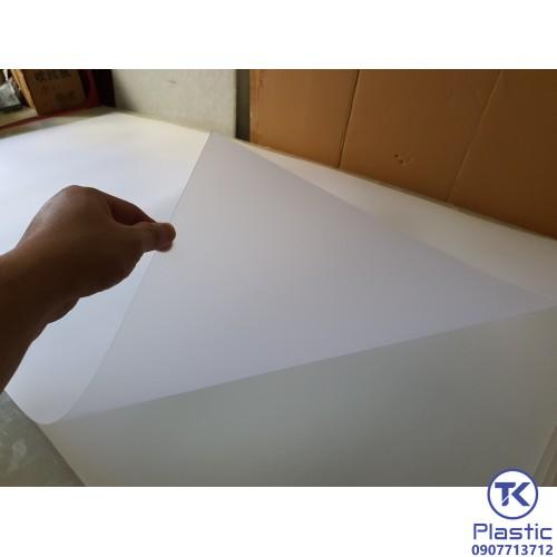 Tấm nhựa PP 2 mặt nhám mờ, xuyên đèn chất lượng cao - giá rẻ