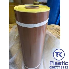Vải Teflon chịu nhiệt độ cao (Màu nâu- Có lớp keo dán) chất lượng cao - giá rẻ